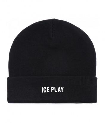 Шапка ICE PLAY 3040 9014 черная с логотипом