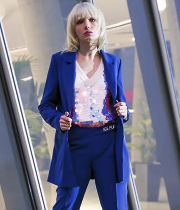 Однобортный пиджак ICE PLAY L021 P515 синий