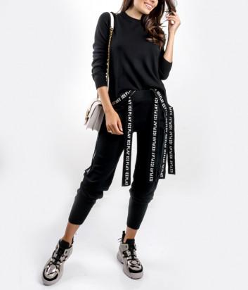 Трикотажный костюм ICE PLAY AB02 9013 с завязками черный