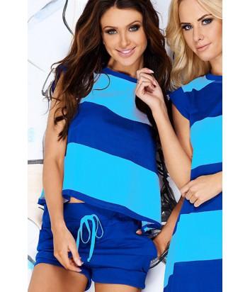 0b7cb33bc75d Комплект Pigeon 108 футболка и шорты в сине-голубую полоску - купить ...