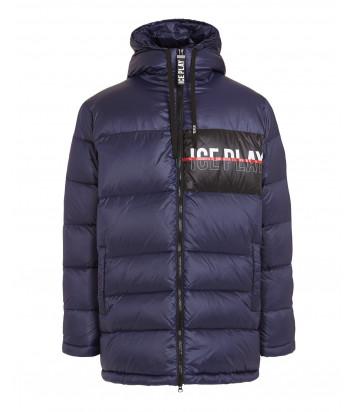Мужской пуховик ICE PLAY J082 6415 синий с логотипом