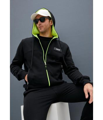 Спортивный костюм ICE PLAY 031 P406 черный с салатовыми вставками