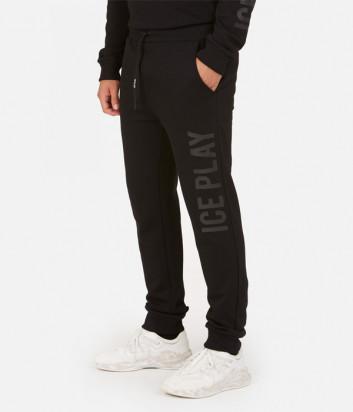 Спортивные штаны ICE PLAY B011 P403 черные с логотипом