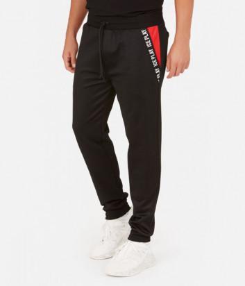 Спортивные штаны ICE PLAY B021 P453 черные с логотипом на карманах