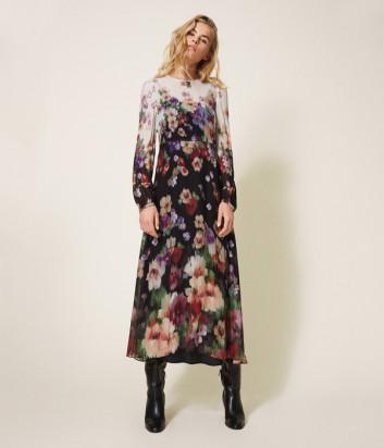 Длинное платье TWIN-SET 202TT2380 с цветочным принтом