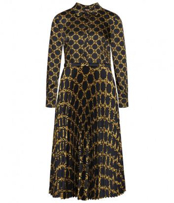 Длинное платье TWIN-SET 202TT2213 черное с принтом