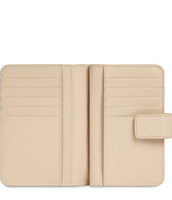 Кожаный кошелек FURLA Babylon WP00024 бежевый с изображением колибри