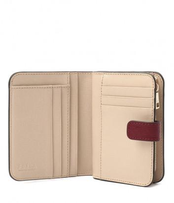 Кожаный кошелек FURLA Babylon PCY0UNO на кнопке вишневый