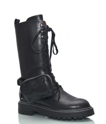Кожаные грубые ботинки HELENA SORETTI 5264 на меху ( без аксессуара-сумочки)