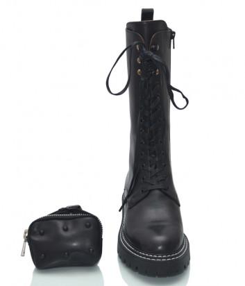 Кожаные грубые ботинки HELENA SORETTI 5264 на меху с аксессуаром-сумочкой