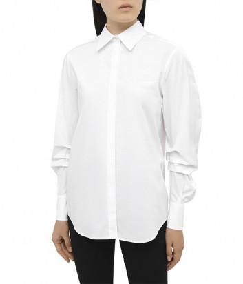 Хлопковая рубашка ICEBERG G0310650 с пышным рукавом белая