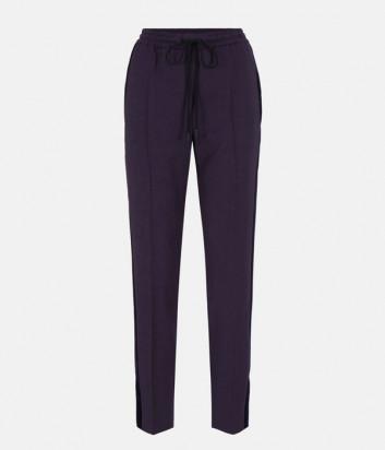 Женские брюки ICEBERG B2413119 фиолетовые с бархатными лампасами