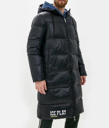 Мужской пуховик ICE PLAY J0516402 длинный черный