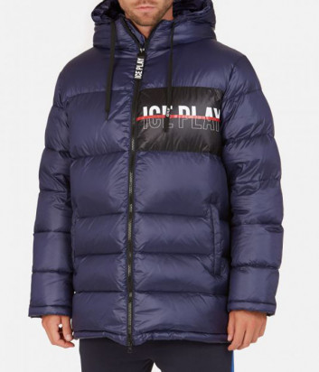 Мужской пуховик ICE PLAY J0826415 с логотипом синий
