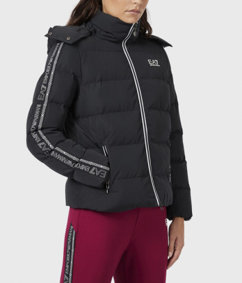 Куртка с капюшоном EA7 Emporio Armani 6HTB05TN8AZ черная
