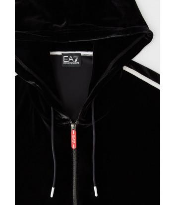 Велюровый костюм EA7 Emporio Armani 6HTM18TJ4GZ (длинная олимпийка и леггинсы) черные