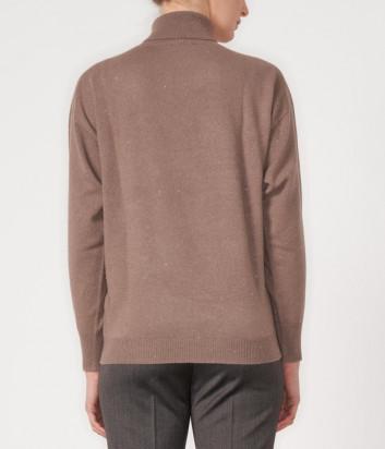 Свитер PESERICO 60S99452F12 с горловиной коричневый