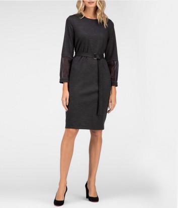 Платье PESERICO S02754J00A с поясом серое
