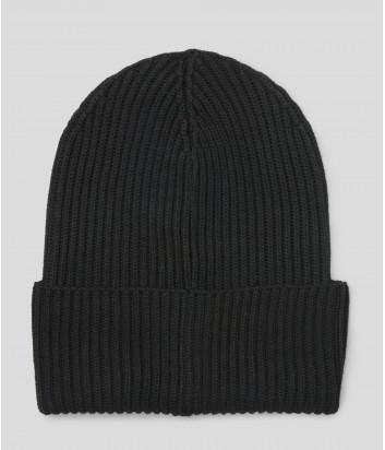 Трикотажная шапка KARL LAGERFELD Ikonik 201W3401 черная