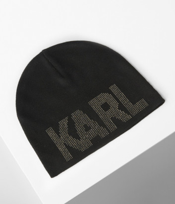 Шапка KARL LAGERFELD 206W3404 с блестящим логотипом-надписью KARL
