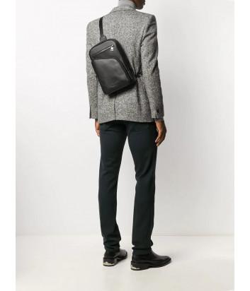 Компактный кожаный рюкзак KARL LAGERFELD 815922 502452 с внешними карманами черный