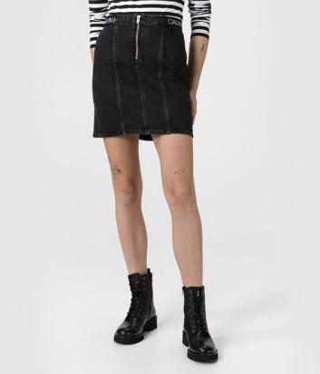 Джинсовая мини-юбка CALVIN KLEIN Jeans J20J214580 черная