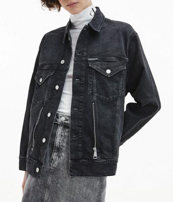 Джинсовая куртка CALVIN KLEIN Jeans J20J214568 черная