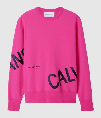 Флисовый свитшот CALVIN KLEIN Jeans J30J316522 розовый с логотипом