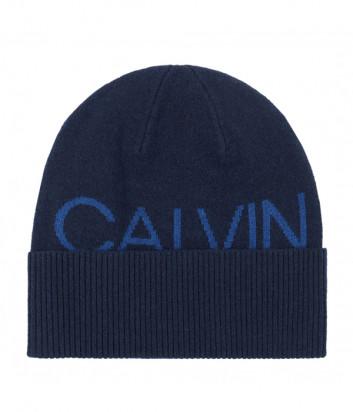 Шапка CALVIN KLEIN Jeans K50K506226 синяя с логотипом