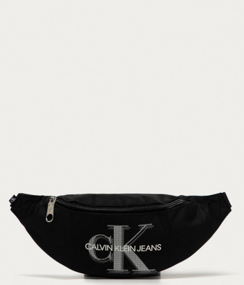 Сумка-бананка CALVIN KLEIN Jeans K50K506130 черная с логотипом
