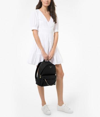 Кожаный рюкзак MICHAEL KORS Slater MD 30T0G04B1L с внешним карманом черный