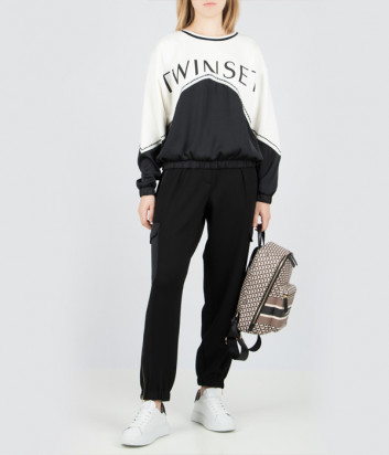 Женский костюм TWIN-SET 202TT2T20 черно-белый