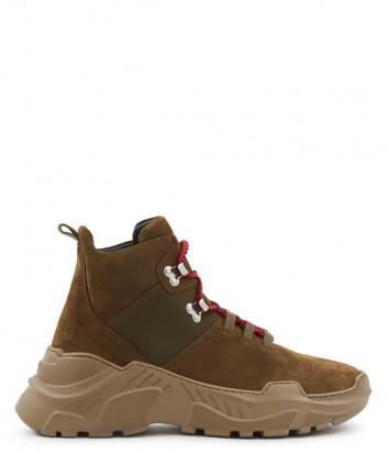 Замшевые ботинки SONIA RYKIEL Desert 6754021313 коричневые