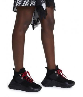 Замшевые ботинки SONIA RYKIEL Desert 6754021313 черные