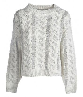 Белый свитер PINKO 1B14VH с серебристым декором