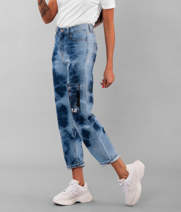 Мам джинсы ICE PLAY 2MM26009 синие с принтом