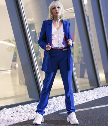 Зауженные брюки ICE PLAY B021P515 синие