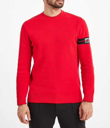 Красный джемпер ICE PLAY A0139007 с логотипом на рукаве