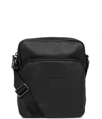 Кожаная сумка LANCASTER Soft Vintage 320-12 с внешним карманом черная