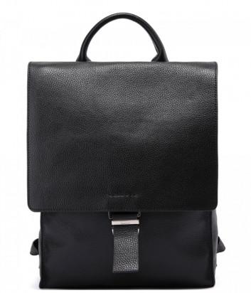 Кожаный рюкзак-сумка BALDININI 672015 с откидным клапаном черный