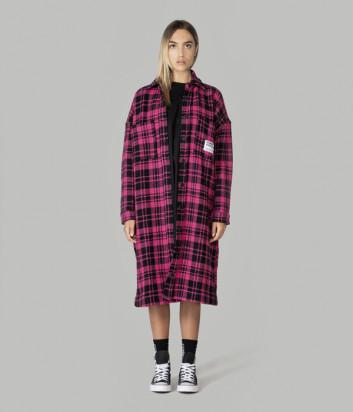 Длинная рубашка-пальто COMME des FUCKDOWN CDFD1314 розовая клетка