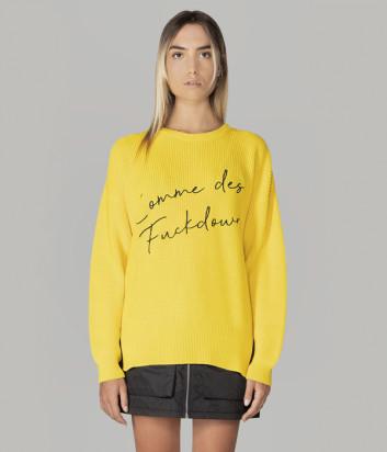 Пуловер COMME des FUCKDOWN CDFD1303 желтый с логотипом