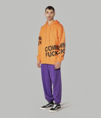 Толстовка COMME des FUCKDOWN CDFU967 оранжевая с логотипом