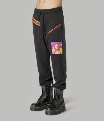 Спортивные штаны COMME des FUCKDOWN CDFU1037 черные с принтом