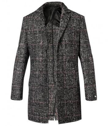 Мужское пальто KARL LAGERFELD 455705 502702 серая клетка