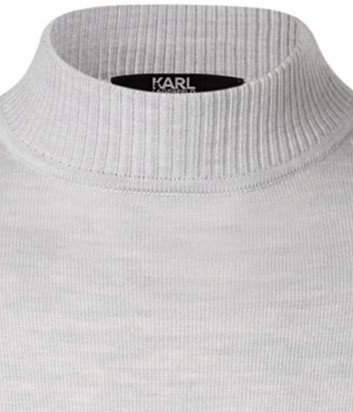 Шерстяной джемпер KARL LAGERFELD 655002 502399 серый