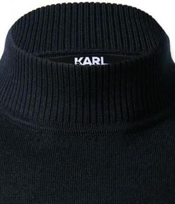 Шерстяной джемпер KARL LAGERFELD 655002 502399 темно-синий
