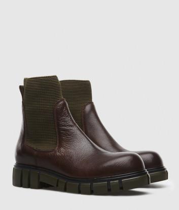 Кожаные ботинки FRU.IT 4800 с эластичными вставками коричневые