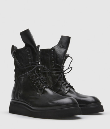 Кожаные ботинки FRU.IT 5615 на шнуровке черные