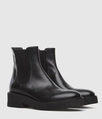 Кожаные ботинки-челси FRU.IT 6398 с эластичными вставками черные
